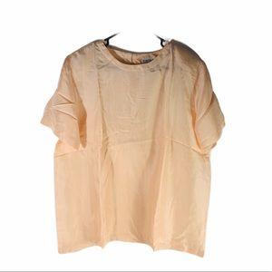 Vintage Light Peach Bedford Fair Silk Blouse NEW